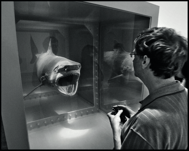 , 'Bill Gates with Damien Hirst's shark, Metropolitan Museum of Art, New York City, USA, 2007,' 2007, Gagosian