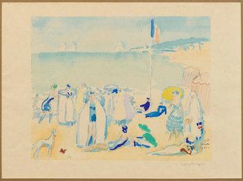 Deauville 1920, Beach scene