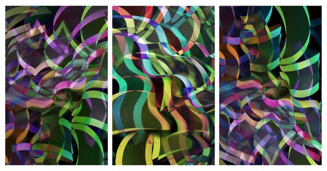 , 'Light form 6221, triptych,' 2020, OdA