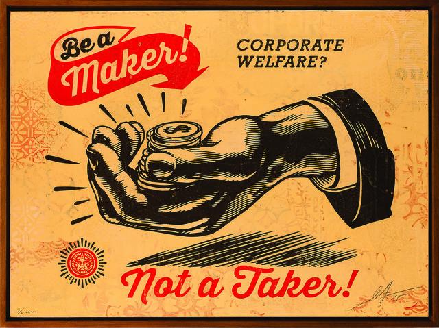 Shepard Fairey (OBEY), 'Corporate Welfare', 2015, Underdogs Gallery