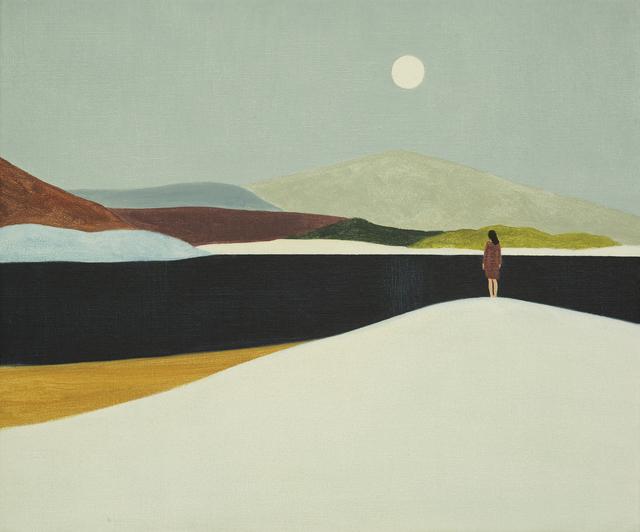 , 'Iceberg, Moon and Girl,' 2018, Yiri Arts