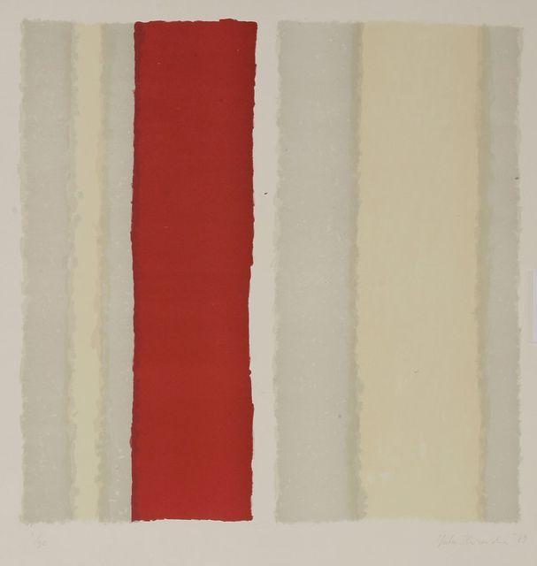 Yuko Shiraishi, 'Untitled (Red Stripe)', 1989, Sworders