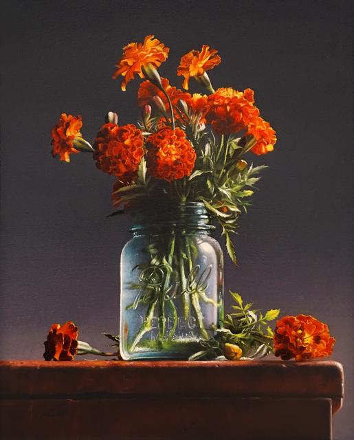 , 'Marigolds,' 2018, William Baczek Fine Arts