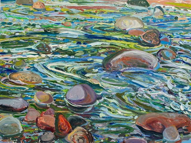 Lilian Garcia-Roig, 'Cumulative Nature: Warm & Cool River Rocks', 2019, Painting, Oil on canvas, Valley House Gallery & Sculpture Garden