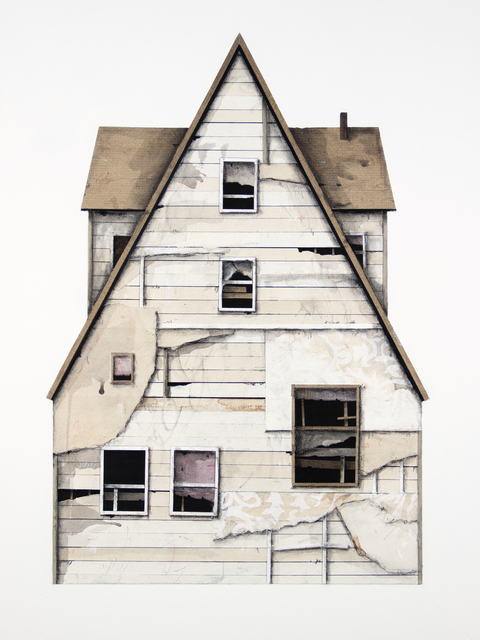 Seth Clark, 'House Portrait Series XV', 2018, Drawing, Collage or other Work on Paper, Paper, charcoal, pastel, acrylic, graphite on wood, Paradigm Gallery + Studio