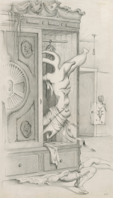 , 'Untitled [Interior with Distorted Figures and Armoire],' ca. 1944, Francis M. Naumann Fine Art