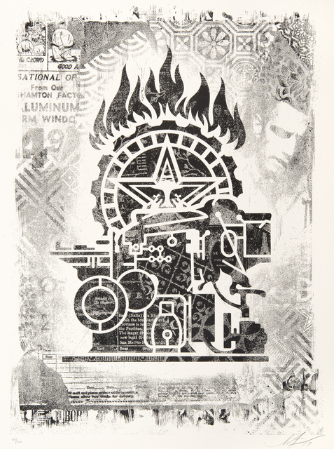 Shepard Fairey, 'Damaged', 2017, Print, A full set of 8 offset lithographs, Tate Ward Auctions