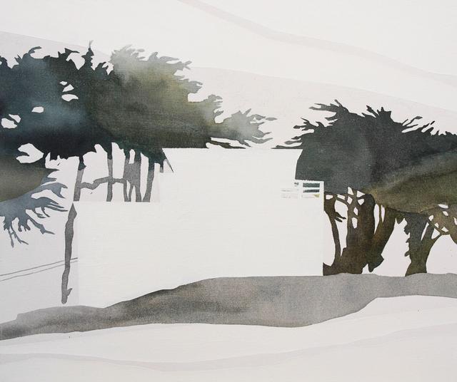 Vivian Kahra, 'Haus (Davenport)', 2014, Painting, Oil and watercolor on canvas, Susan Eley Fine Art