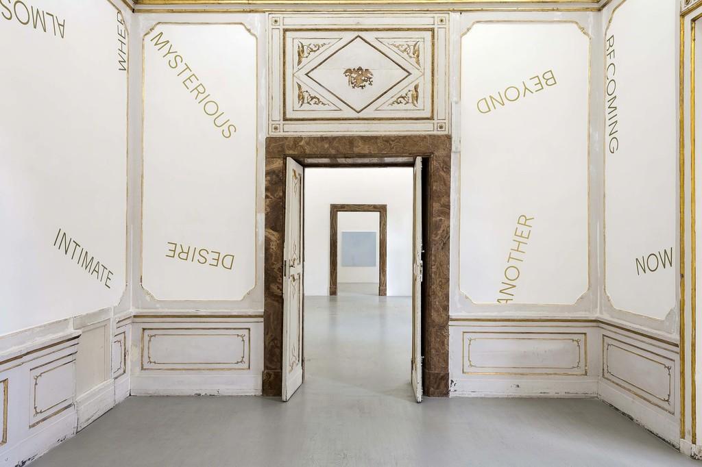 Robert Barry - partial view of the exhibition - April 2018 - Galleria Alfonso Artiaco, Napoli