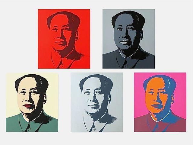 Sunday B. Morning, 'After Andy Warhol, Mao Portfolio of 5', 1970-2015, Print, Screenprint on Museum Board, OSME Fine Art