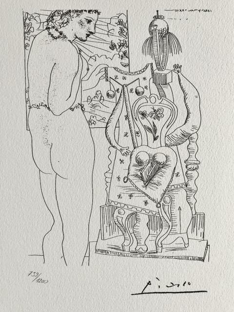 Pablo Picasso, 'Modèle et sculpture surréaliste (Suite Vollard Planche LXXIV)', 1973, ByNewArt