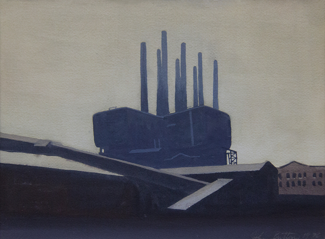 John Button, 'Industrial Buildings', 1970, ClampArt