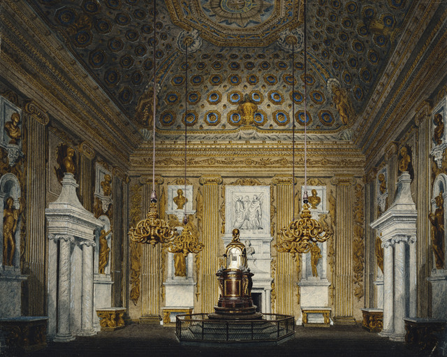 , 'Kensington Palace: The Cupola Room,' ca. 1817, Royal Collection Trust