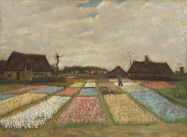 , 'Flower Beds in Holland,' 1883, Seattle Art Museum
