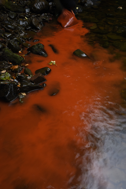 , 'Red river rock. Dumfriesshire, Scotland. 19 August 2016,' 2016, Haines Gallery