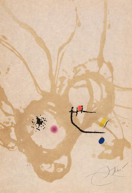 Joan Miró, 'Passage de l'Égyptienne (D-1194)', 1985, Galerie Simon Blais