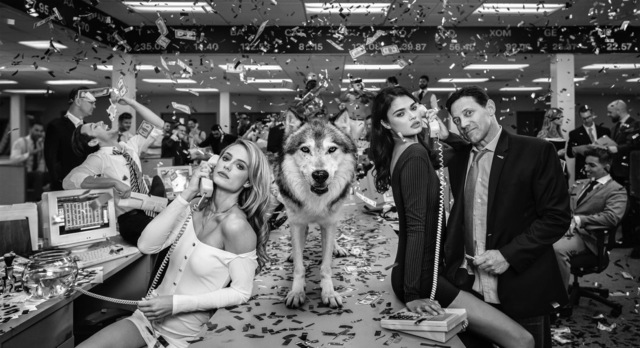 David Yarrow, 'The Wolves of Wall Street II', 2019, Photography, Archival Pigment Print, Maddox Gallery