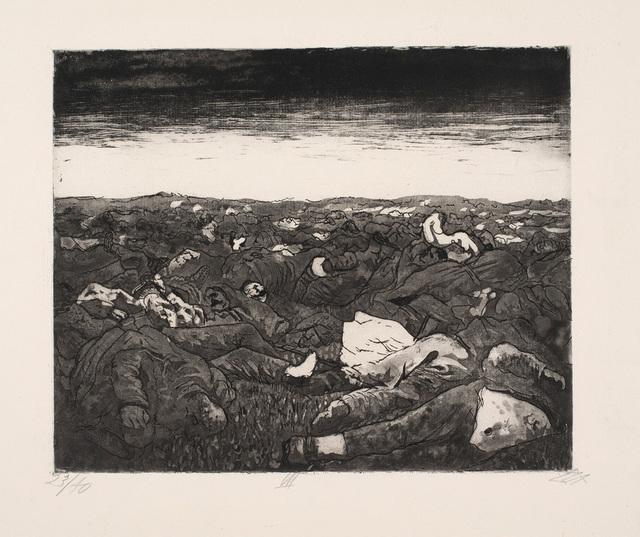 , 'Abend in der Wijtschaete-ebene (November 1917),' 1924, Charles Nodrum Gallery