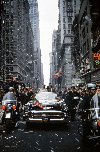 , 'John F Kennedy and Jacqueline Kennedy at a parade in New York. ,' 1960, Magnum Photos