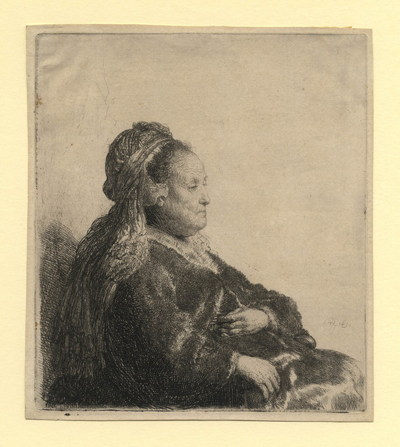 , 'The Artist's Mother Seated, in an Oriental Headdress: Half Length,' 1631, C. G. Boerner