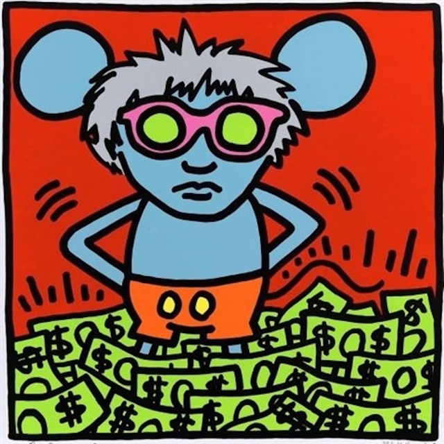 Andy Warhol, 'Andy Mouse (Dollar Bills) ', 1986, Print, Screenprint on Lenox Museum Board with Diamond Dust, Revolver Gallery