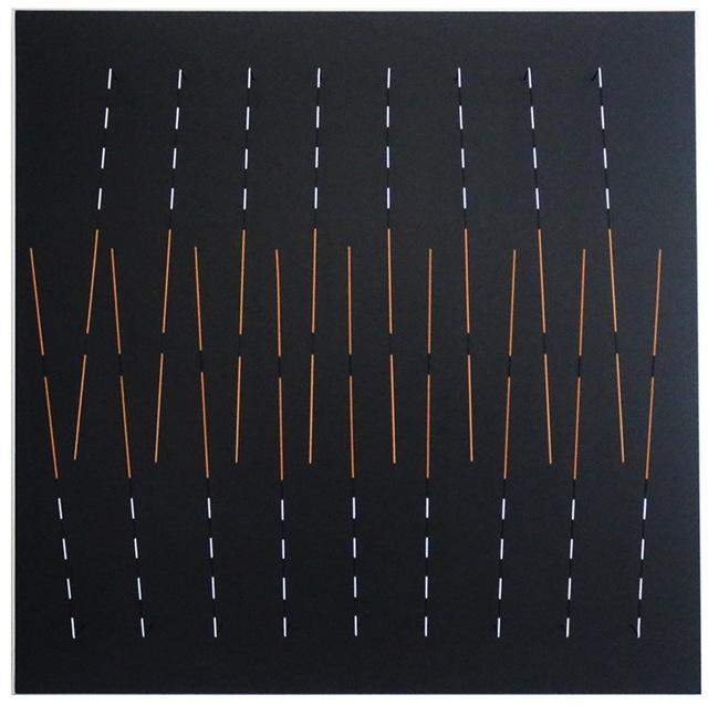 Rafael Martinez, 'Lineas y espacio 1', Painting, Acrylic and metal on wood panel, Galería de las Misiones