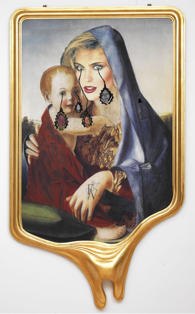 , 'CRYING PORTRAIT OF KIM ALEXIS AS A RENAISSANCE MADONNA WITH HOLY CHILD (AFTER GIOVANNI BELLINI),' 2010, Gagosian