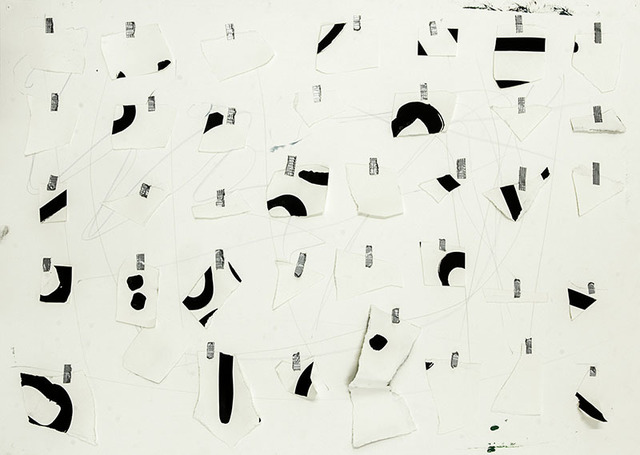 , 'Tempo with 3 parts (paper; ink; tape),' 2015, blank projects