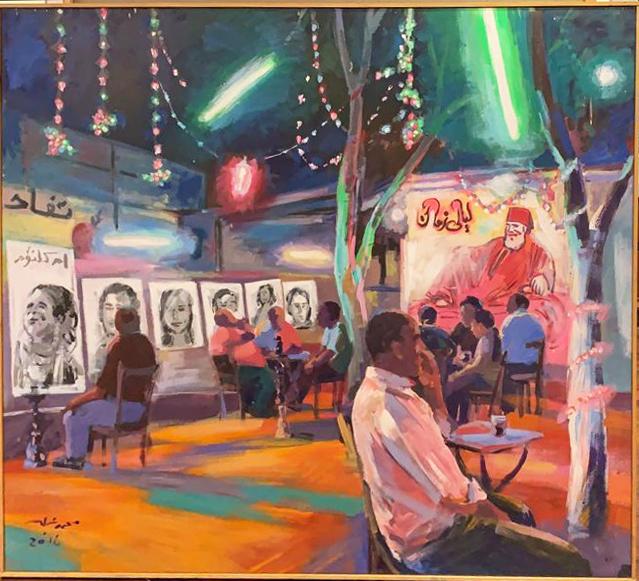 , 'Cairo Cafe,' 2016, Easel & Camera Contemporary Art Gallery