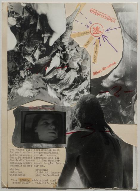 """, '""""DER INNERE WIDERSTAND..."""" Orig. Collage,' 1973, PRISKA PASQUER"""
