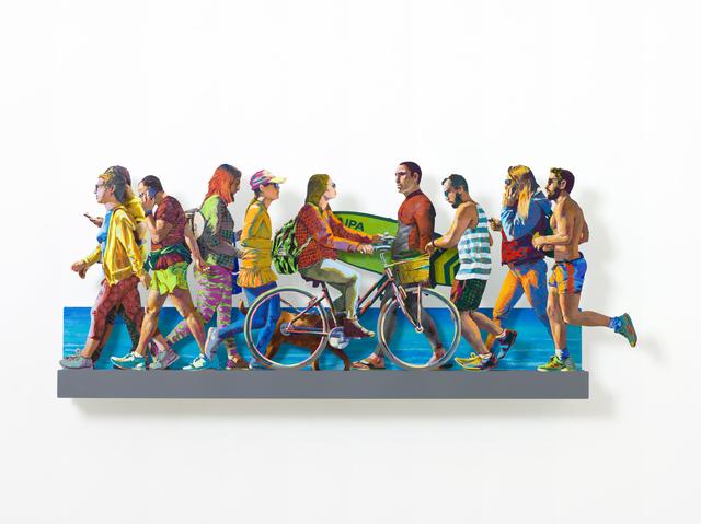 David Gerstein, 'TEL AVIV BEACH PROMENADE特拉維夫海濱(Left)', 2019, Installation, Aluminum鋁 3層, Artrue Gallery