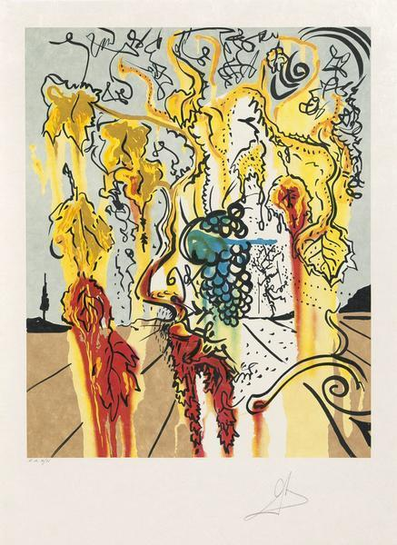 Salvador Dalí, 'Portrait of Autumn', 1980, Print, Lithograph on Arches paper, Caviar20