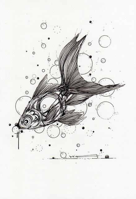 , 'Goldfish Dripping,' 2018, GCA Gallery