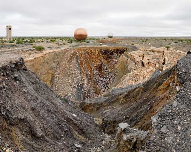 , 'Copperton Mine, Copperton (1972 to 1994), 462,560 tonnes of copper, 934,560 tonnes of zinc, and 944 tonnes of silver extracted,' 2014, Gallery MOMO