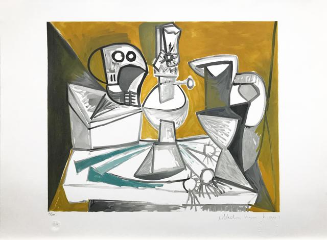 Pablo Picasso, 'TETE DE MORTE, LAMPE CRUCHES ET POIREAUX', 1979-1982, Reproduction, LITHOGRAPH ON ARCHES PAPER, Gallery Art