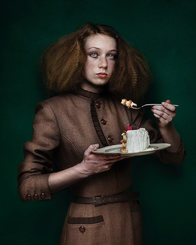 Girl with Cake by Shelly Mosman 2017