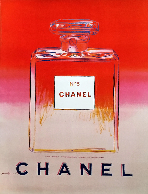 Andy Warhol, 'Chanel No. 5 Advertising Campaign Poster (after Andy Warhol) ', 1997, Ephemera or Merchandise, Offset lithograph in colors affixed to linen canvas backing, Lot 180