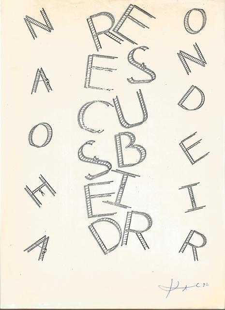 , 'Cartografia vertical,' 1982, Marsiaj Tempo
