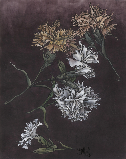 Yang Jiechang 杨诘苍, 'These are still Flowers 1913-2013 No. 1 还是花鸟画1913-2013 1号', 2013, Painting, Ink and mineral pigments on silk, mounted on canvas 墨、矿物彩,绢本(裱于布面), Ink Studio