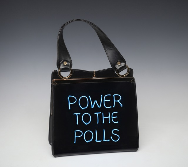 Michele Pred, 'Power to the Polls', 2020, Sculpture, Electroluminescent Wire on Vintage purse, projects+gallery