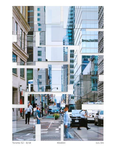 Phil Stein, 'Toronto 52', 2018, Photography on plexi collage, Abbozzo Gallery