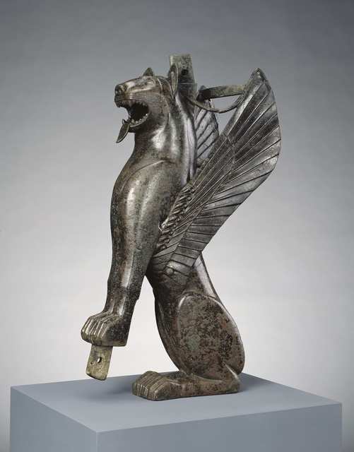 'Furniture Support Representing a Winged Feline',  700 -575 B.C., J. Paul Getty Museum