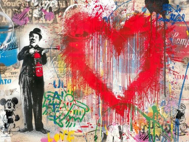 Mr. Brainwash, 'Spray Love', 2019, Aurifer AG