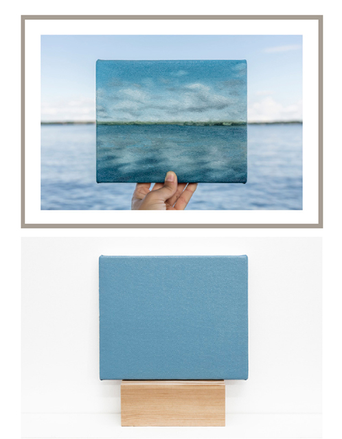 , 'Lake Monona, 01/07/2017  -  one photograph and one painting of a series of 5 photographs and 5 paintings,' 2017, Maus Contemporary