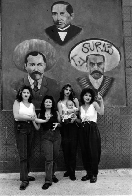 , 'Cholas I (con Zapata y Villa), White Fence, East L.A.,' 1986, Ruiz-Healy Art