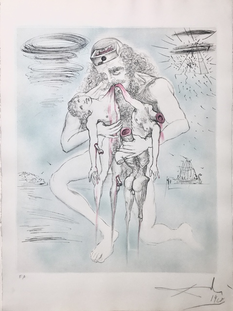 Salvador Dalí, 'Saturn (Kronos)', 1963, Drawing, Collage or other Work on Paper, Etching + engraving, Dali Paris