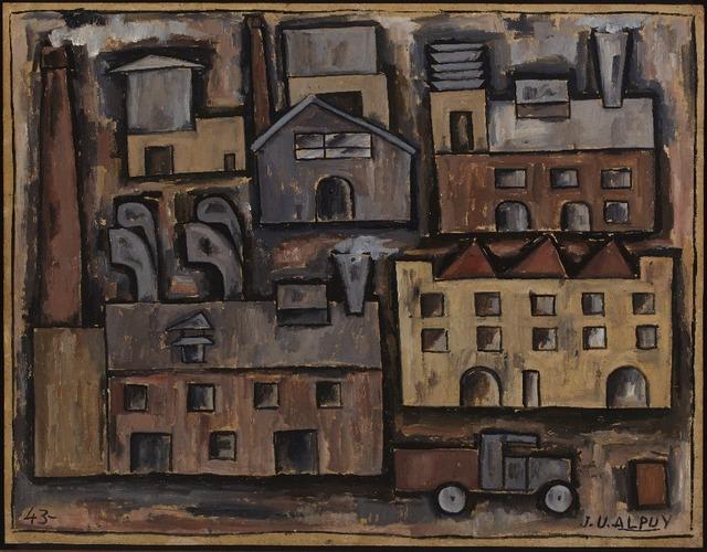 , 'Paisaje urbano con camión,' 1943, Cecilia de Torres, Ltd.