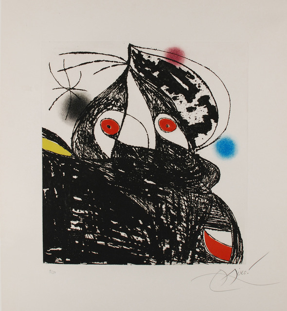 Joan Miró, 'Personnage Romantique', 1975, Print, Etching and aquatint on wove paper, Westbrook Modern