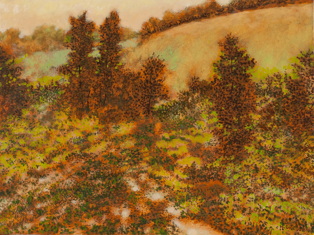 Harold Gregor, 'Yellow Hill #79', 2004, Painting, Oil on masonite, Richard Gray Gallery