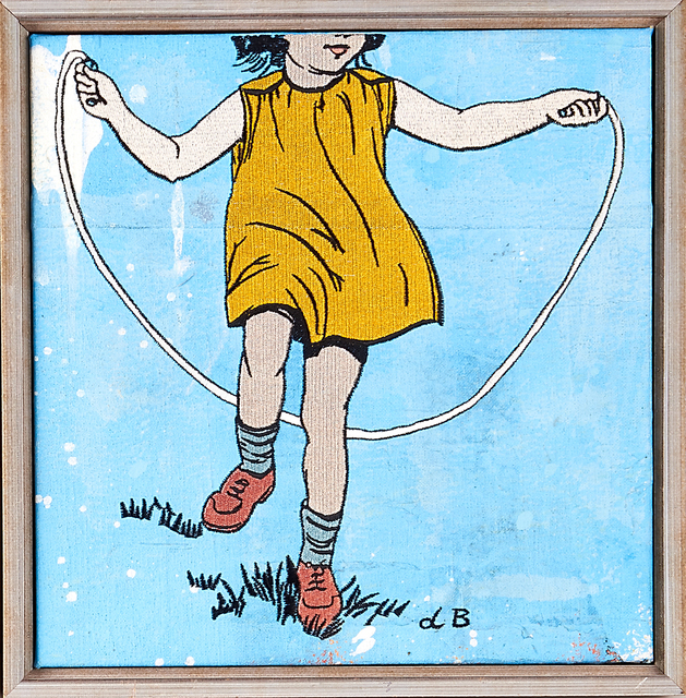 David Bromley, 'Two Artworks: Girl Skipping and Girl with Mirror', ca. 1990, Rago